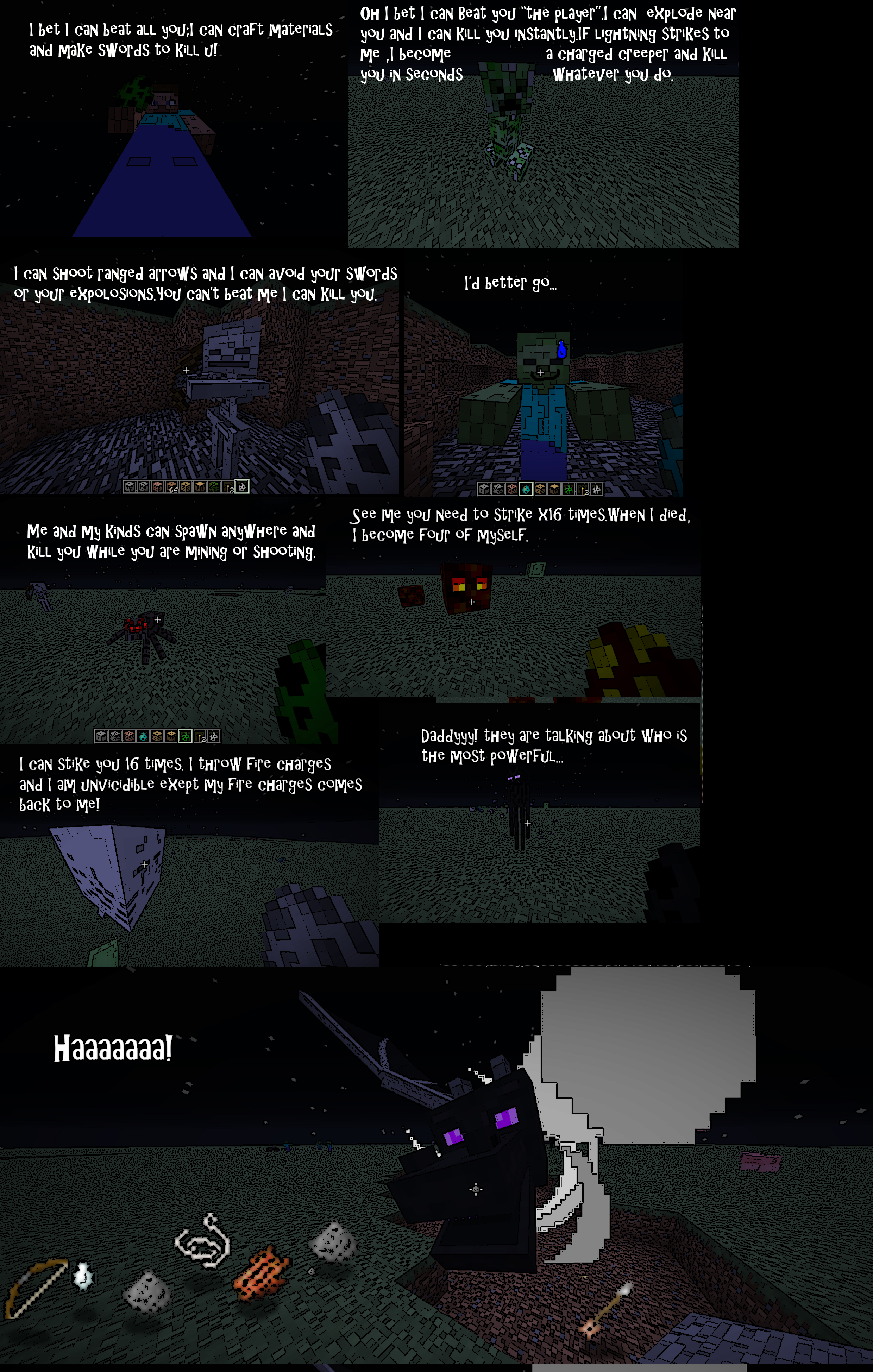 Minecraft mobs in argument 1 by aaronx190 on deviantart for The craft of argument