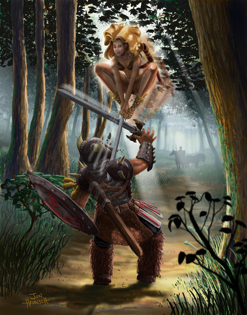 Warrior Princess vs Viking 2 by JonHrubesch on DeviantArt