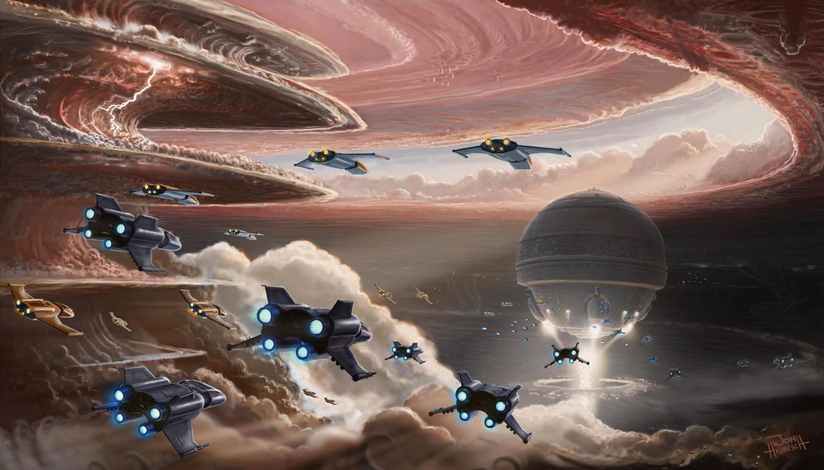Jupiter Assault by JonHrubesch