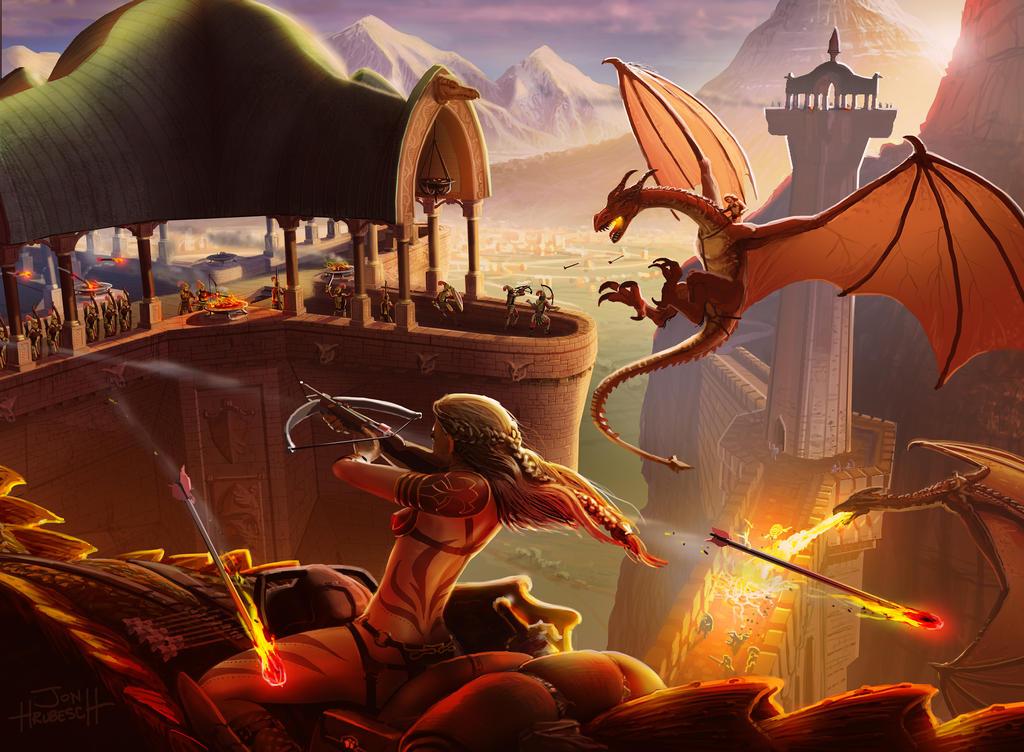 Dragon Siege by JonHrubesch