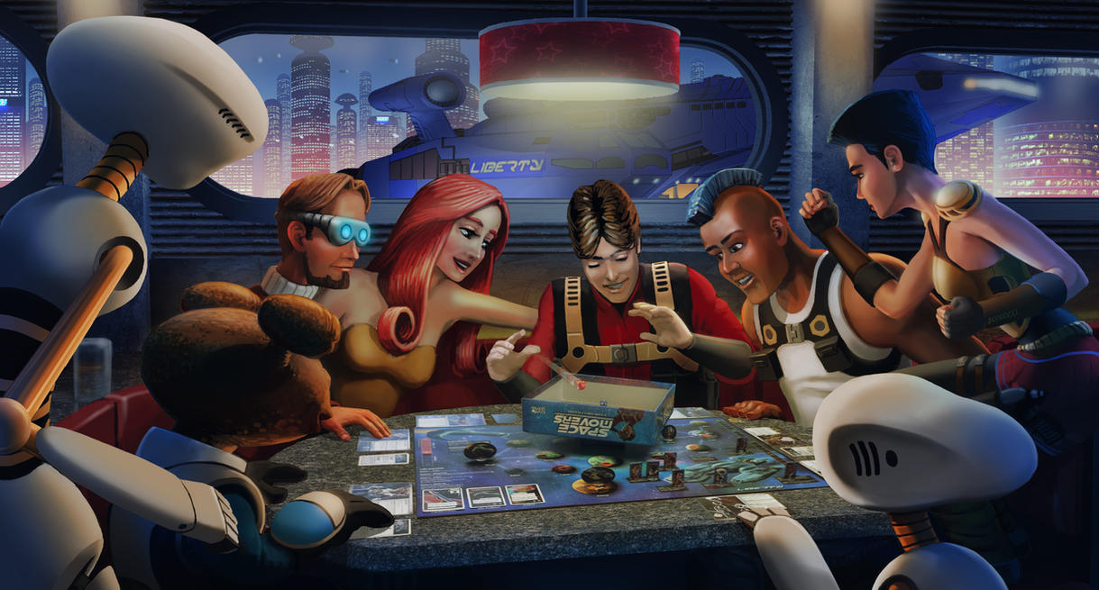 Space Movers Promotional image by JonHrubesch