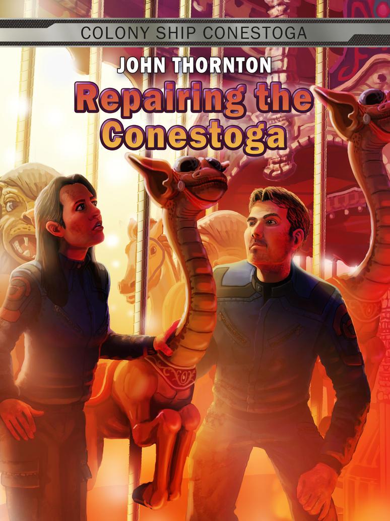 Repairing the Conestoga  by JonHrubesch
