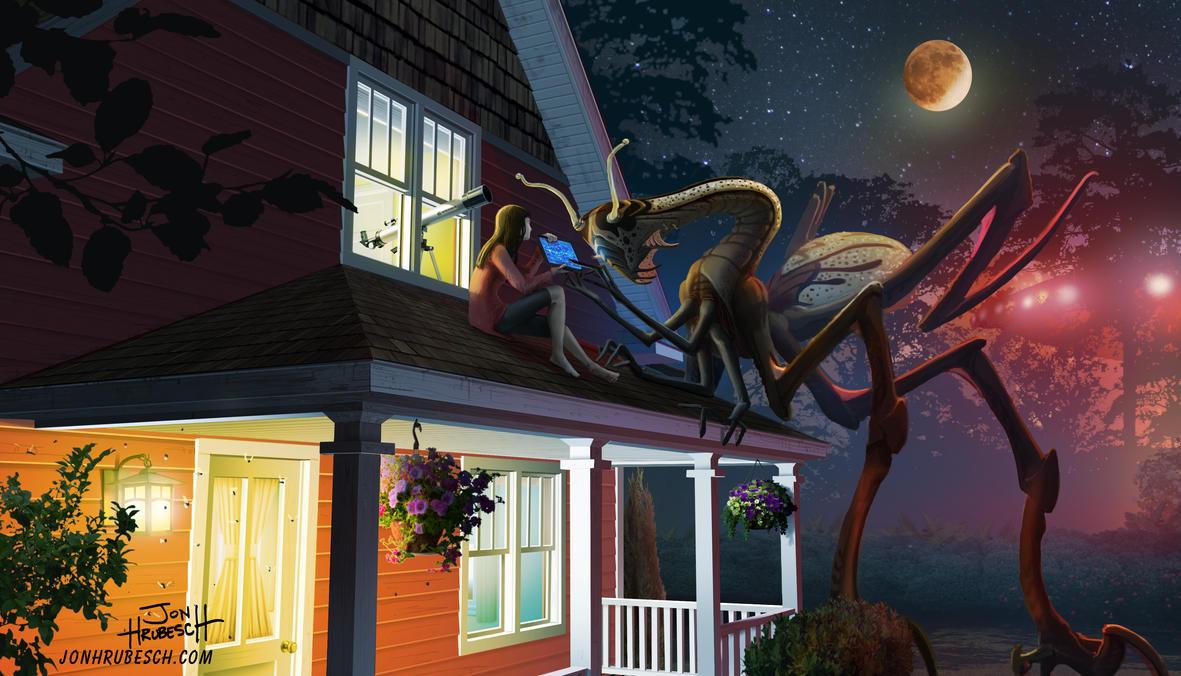 Alien Encounter by JonHrubesch