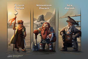 Dwarf Subraces by JonHrubesch