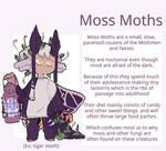 Semi-open Species: Moss Moths by tunepup