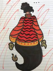 Fire demon lady