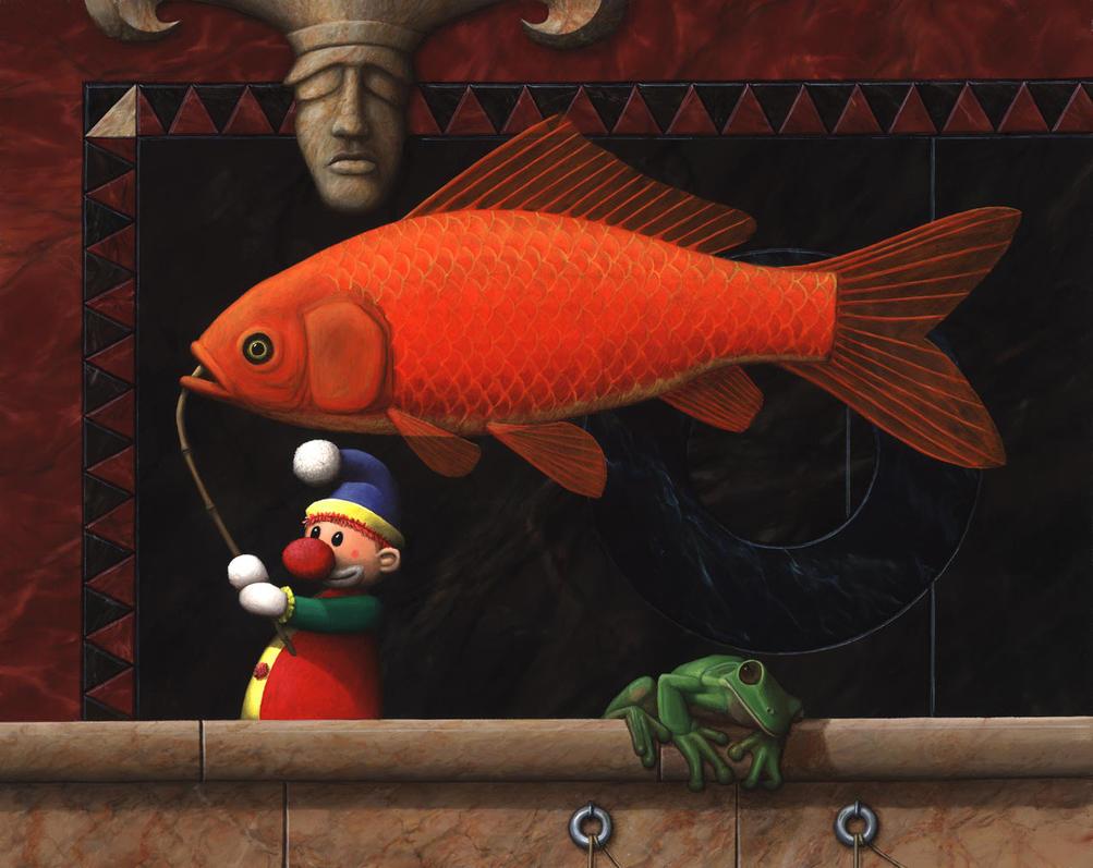 Stick fish transport by vanoostzanen