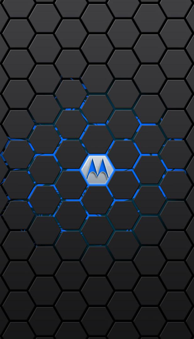 Motorola Neon Blue Wallpaper By Krkdesigns