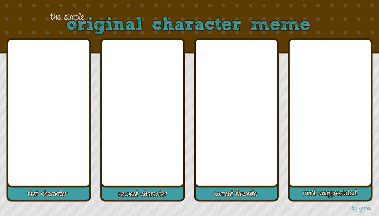 Simple OC Meme Blank by yorei