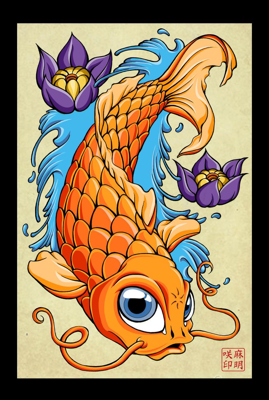 Tattoo Pez Koi. Orange Fish Tattoo. Tattoo Pez Koi. Beautiful Koi ...