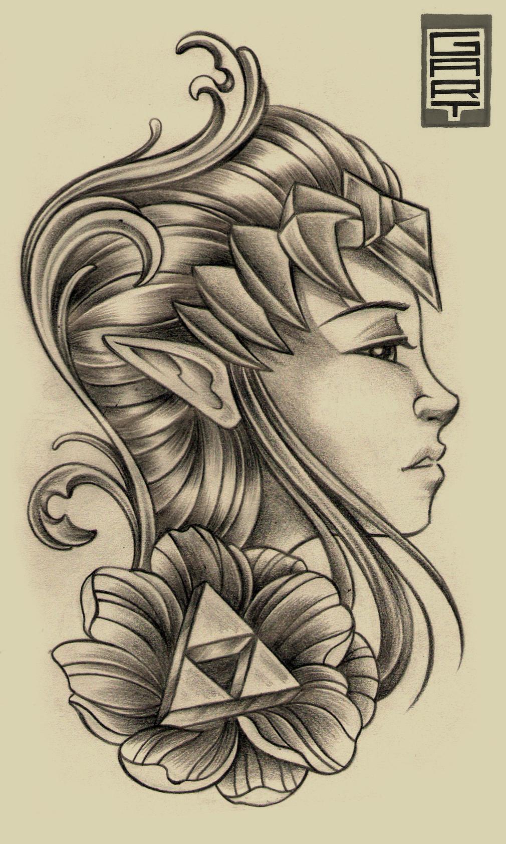 Zelda Neotradicional by AbrahamGart