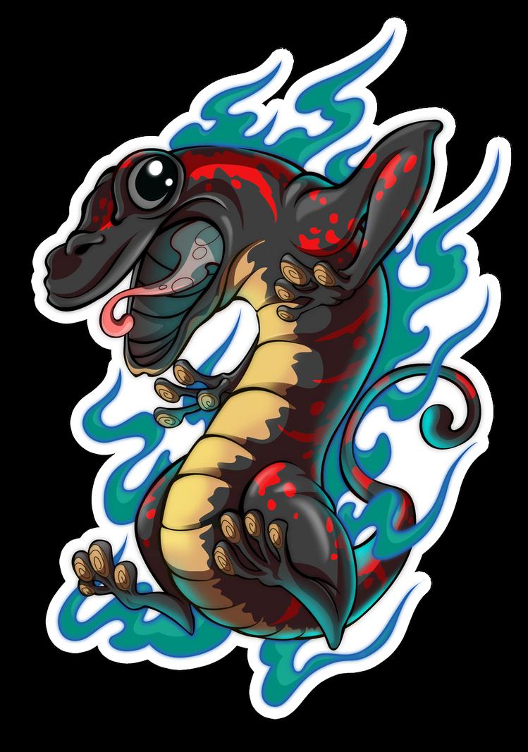Espiritus Elementales - Salamandra by AbrahamGart