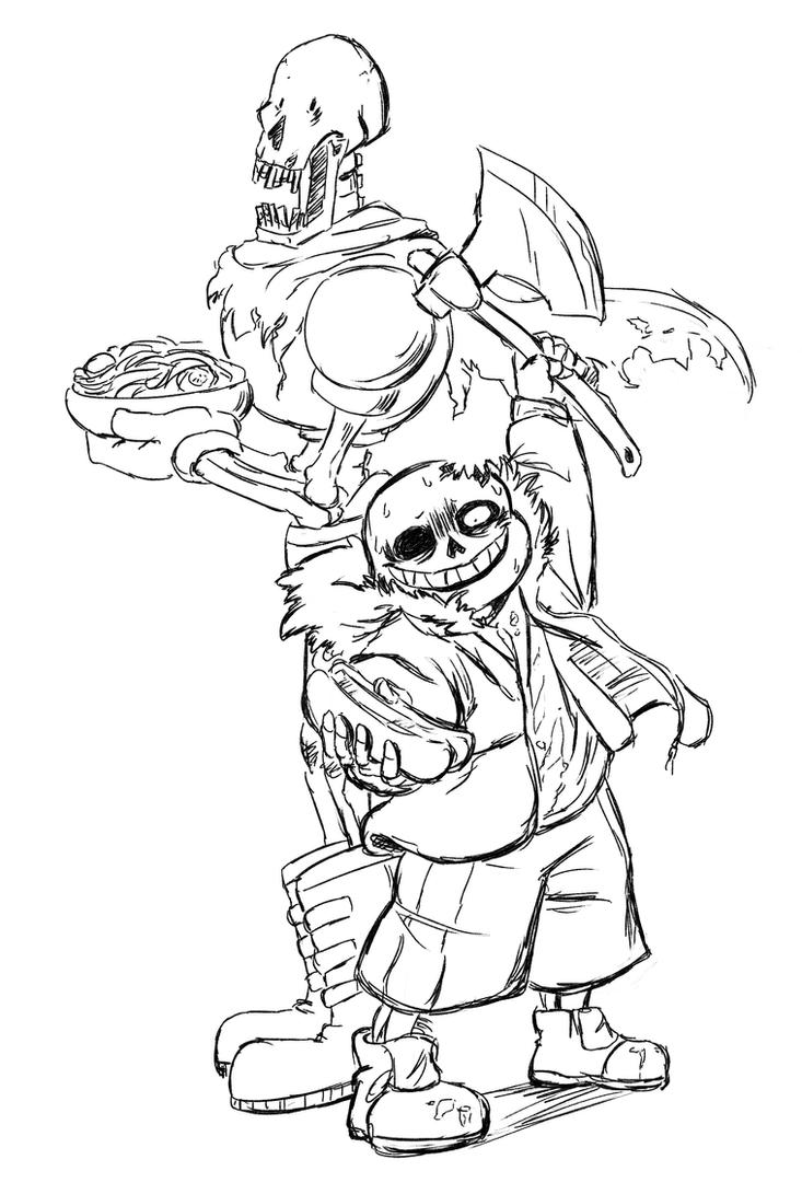 Horrortale sketch by paurachan on deviantart for Sans coloring page