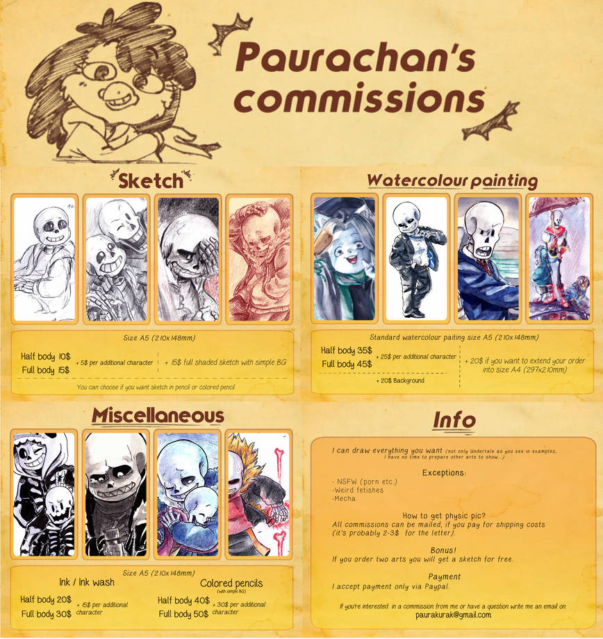 Emergency commissions (are closed)