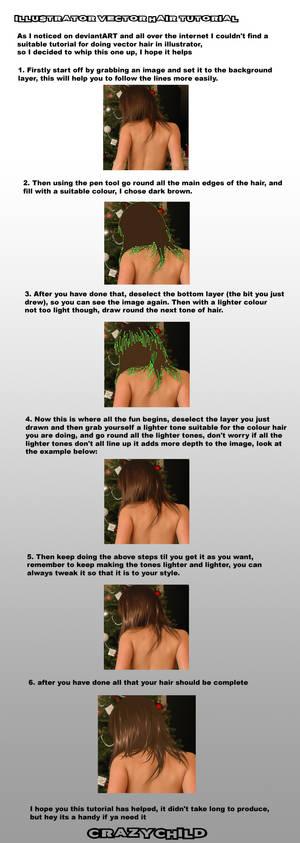 Illustrator CS Vector Hair