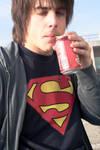 Super heroes drink cocacola