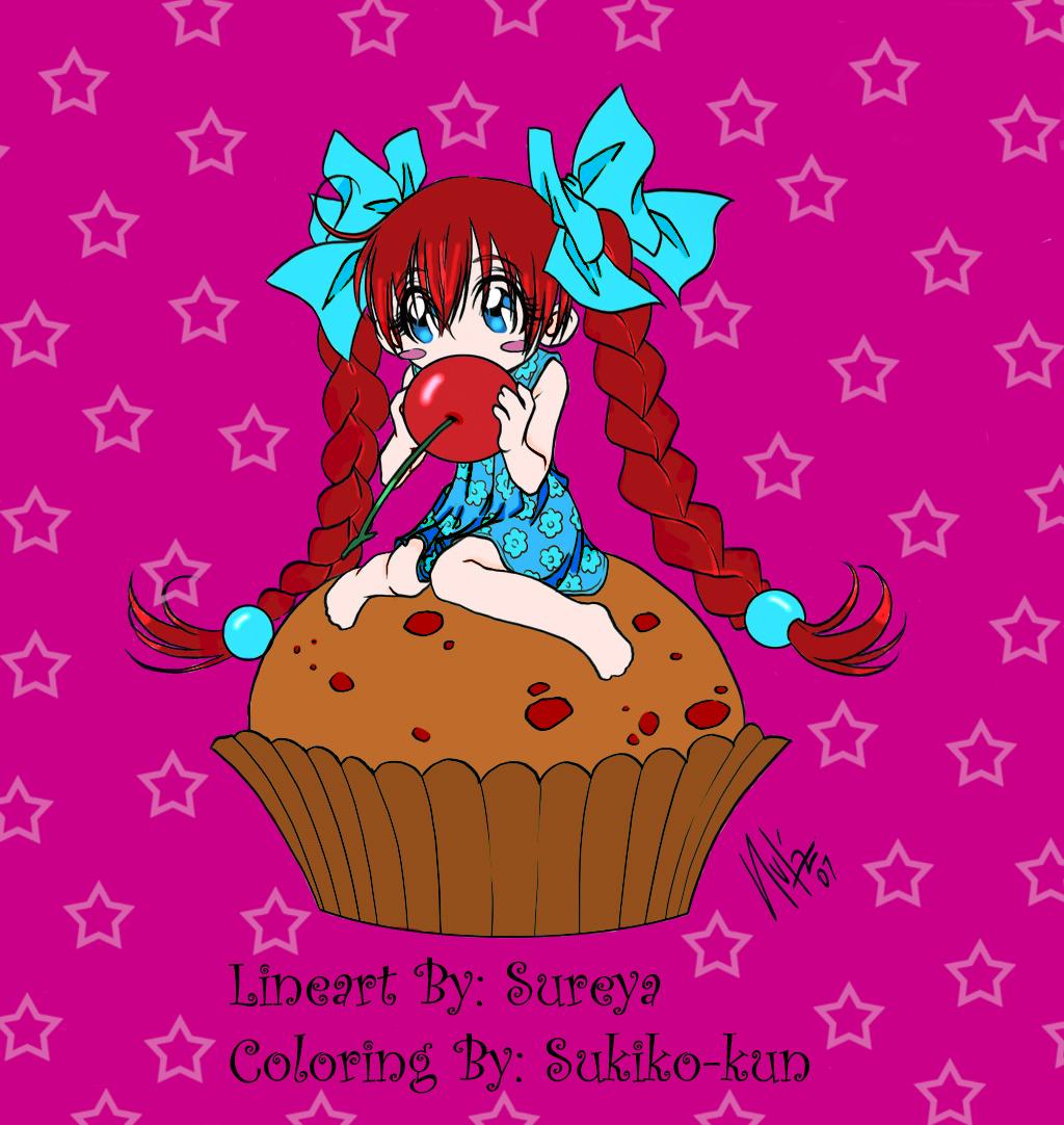 Chibi Cupcake. Chibi Cupcake Cake Ideas and Designs