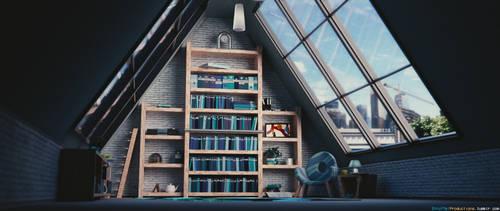 Reading interior / 1 / Blender 3D