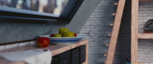 Reading interior / 2 / Blender 3D