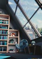 Reading interior / 3 / Blender 3D
