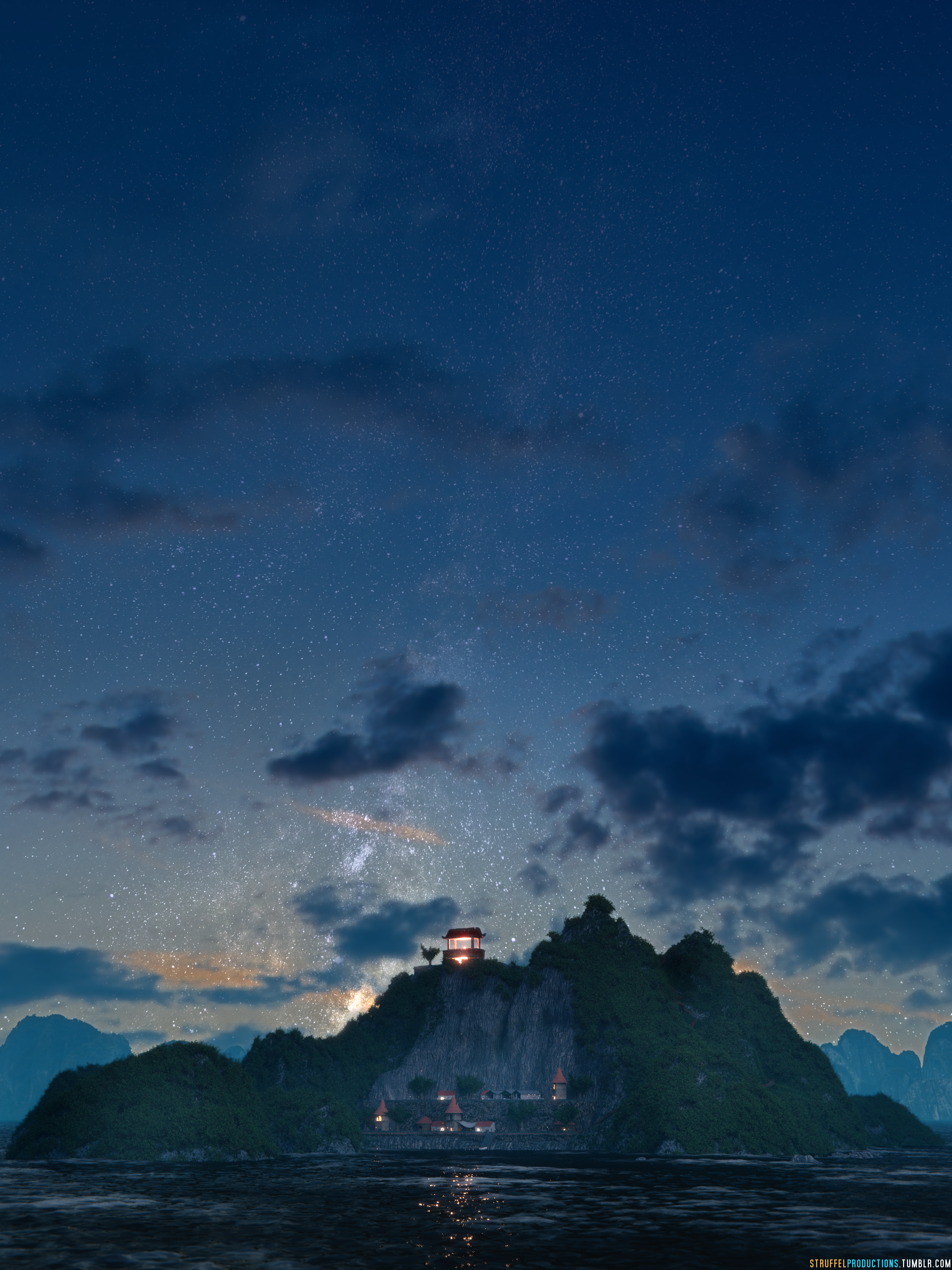 Island at Night