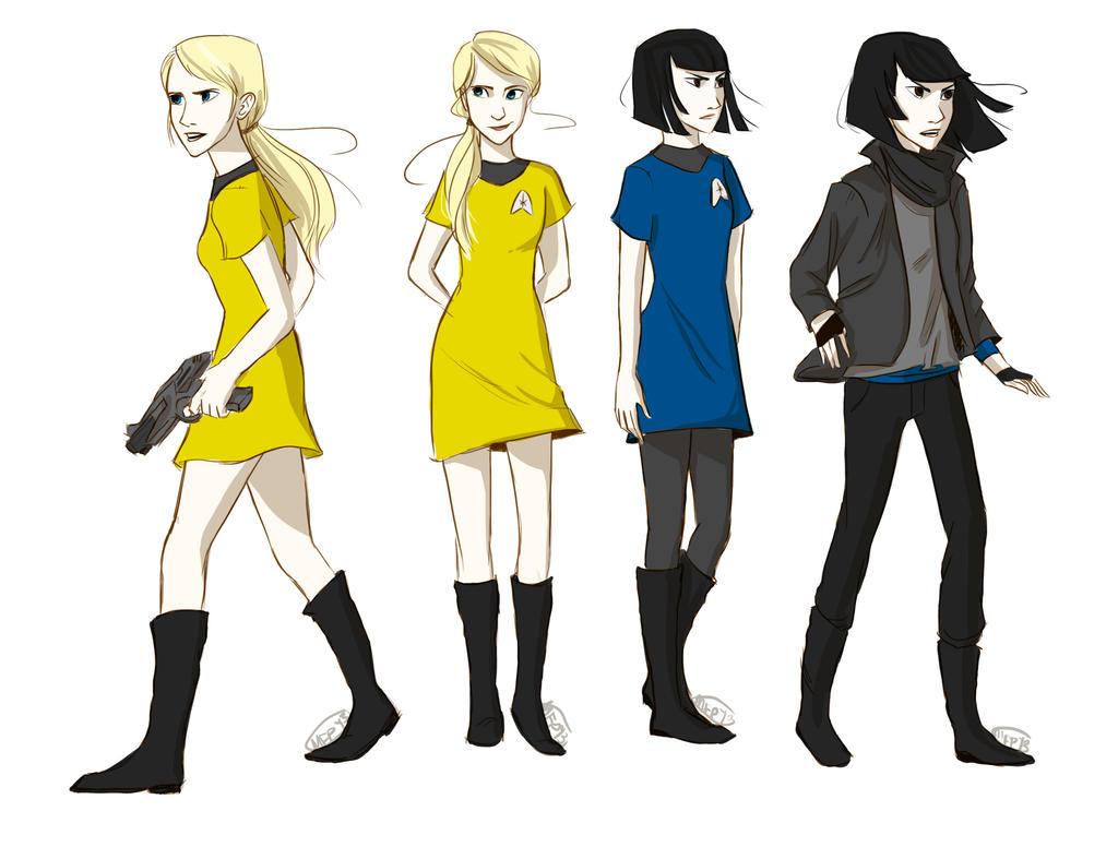 Deviantart Starfleet Captains Tylan Schan: Jim Kirk And Spock As Girls By Vanilla-Fireflies On DeviantArt