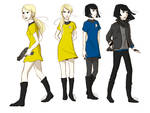 Jim Kirk and Spock as Girls