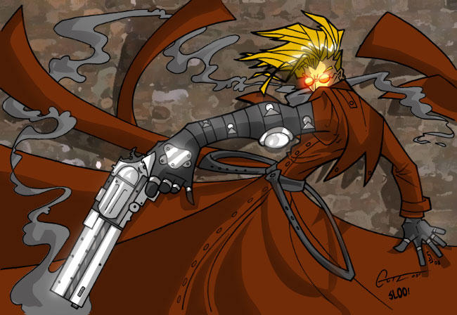 Gutz's Trigun colored by sludger