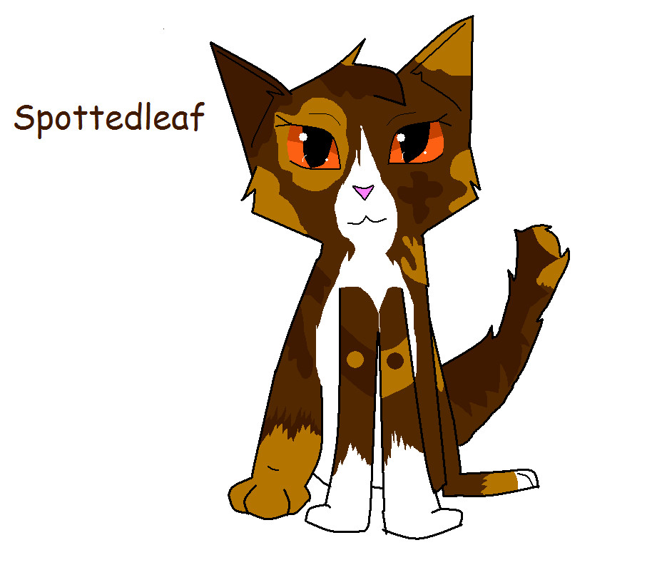 warrior cats coloring pages spottedleaf - photo#30