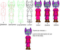 Toon Drawing Tutorial (Female, Cat) by katleidoscopic