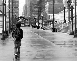 Walking on the Navy Pier by MrFunnyPants