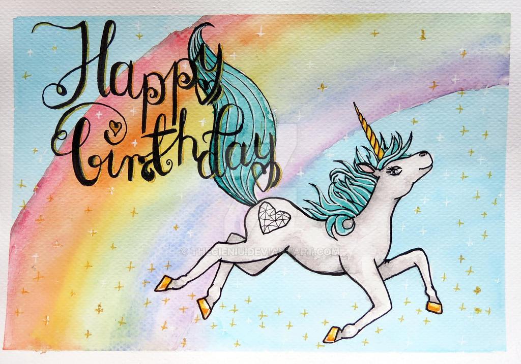 Birhtday Unicorn by thecieniu