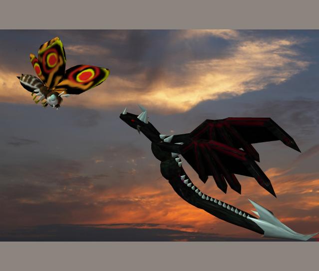 Fierce Battle In The Sky by Kyotita