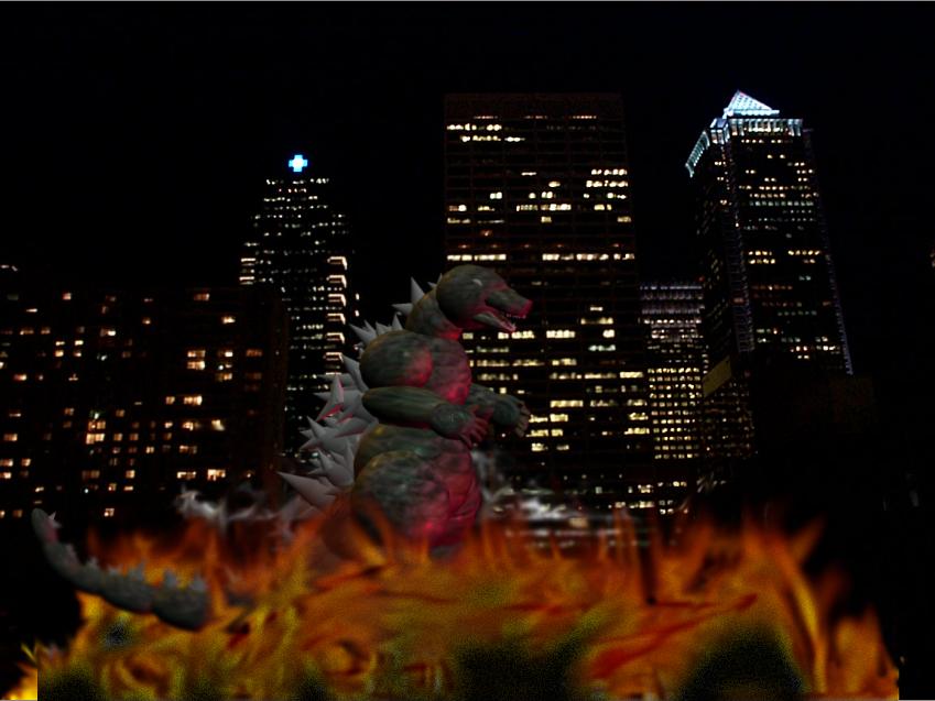 Godzillas Midnight Stroll by Kyotita