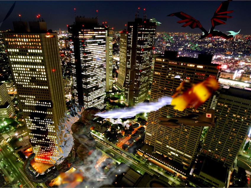 Godzilla VS Kyotita by Kyotita