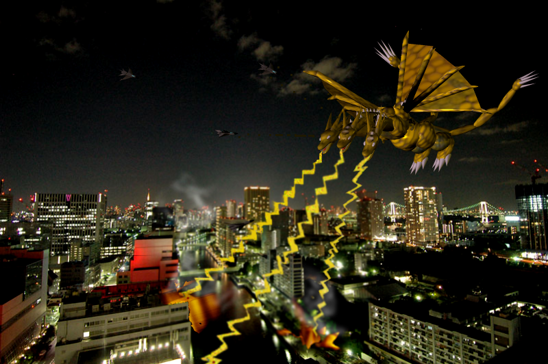 CG Monster 5: Ghidorah by Kyotita