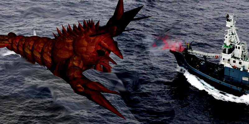 Cg Monster 6: Ebirah by Kyotita