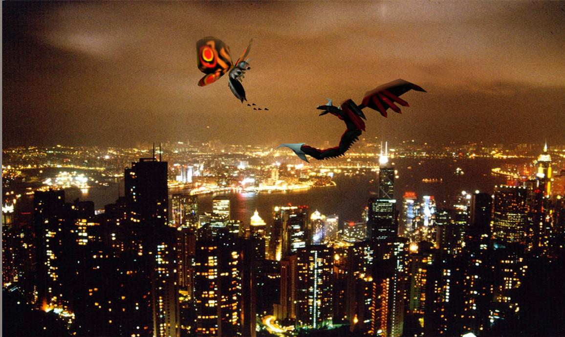 Mothra vs Kyotita 2 by Kyotita