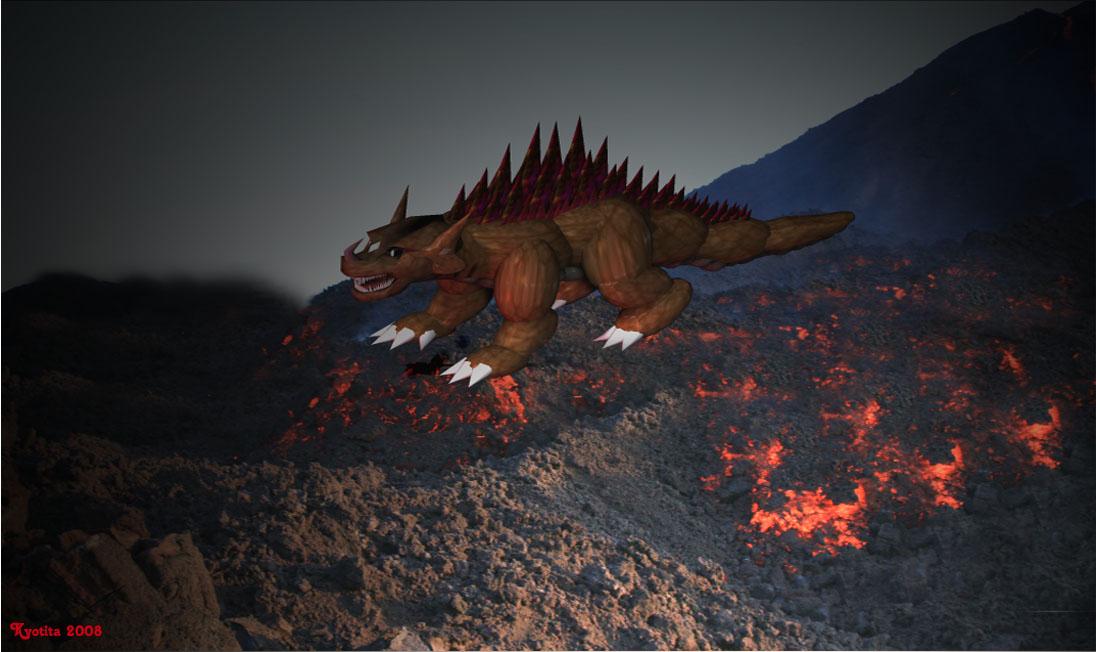 Original Kaiju:Arugen by Kyotita