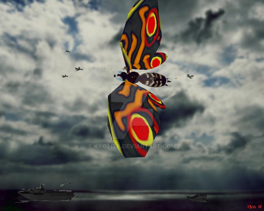 Mothra Encounter-1st 2011 CG G by Kyotita