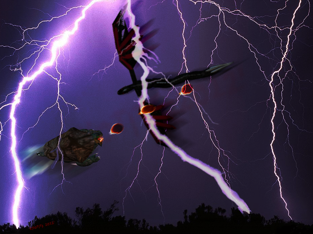 Kyotita encounters a flying Turtle... by Kyotita