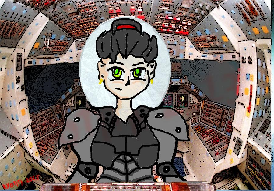 Pilot inside a ship/robot by Kyotita