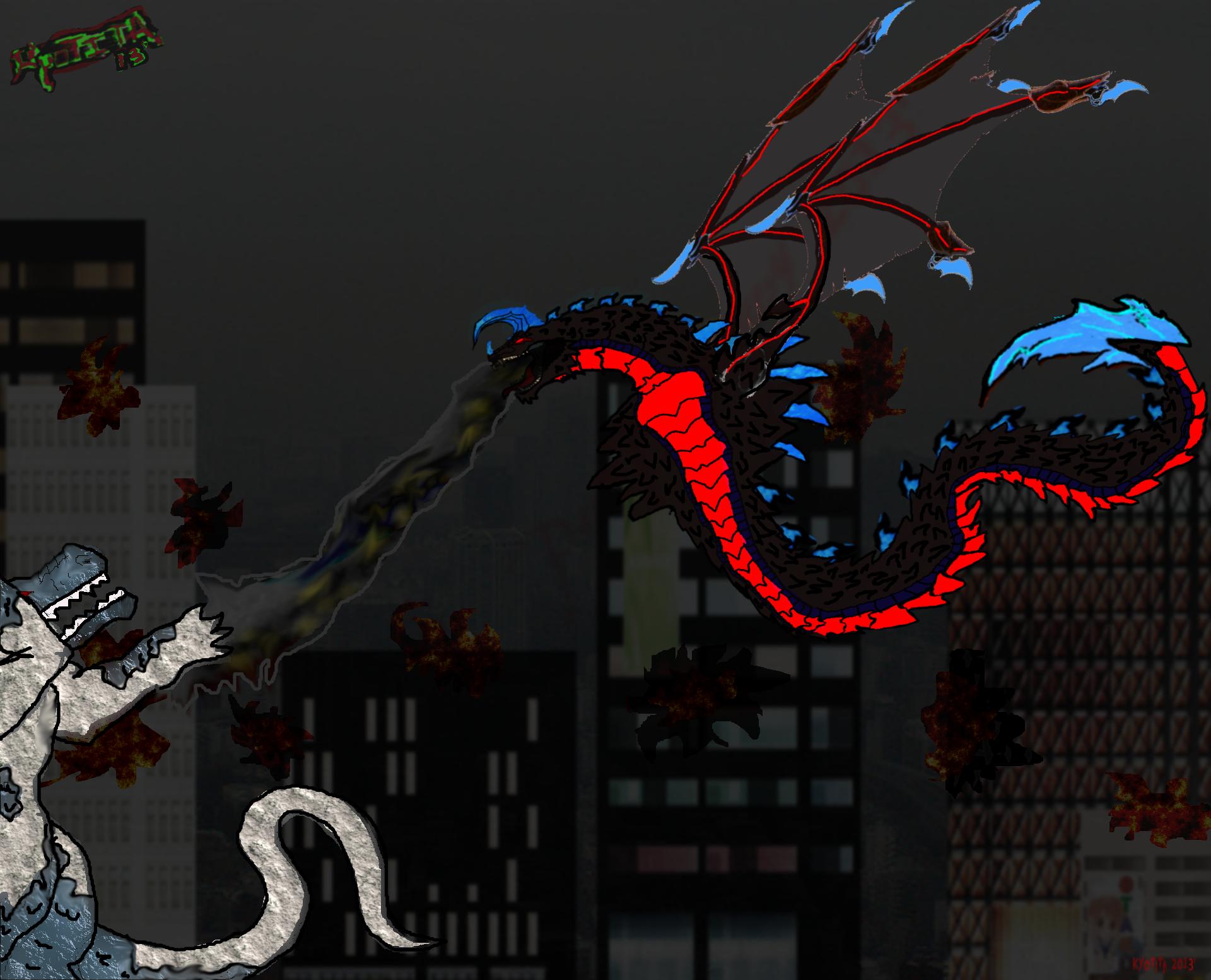 Kyotita breath weapon attack by Kyotita