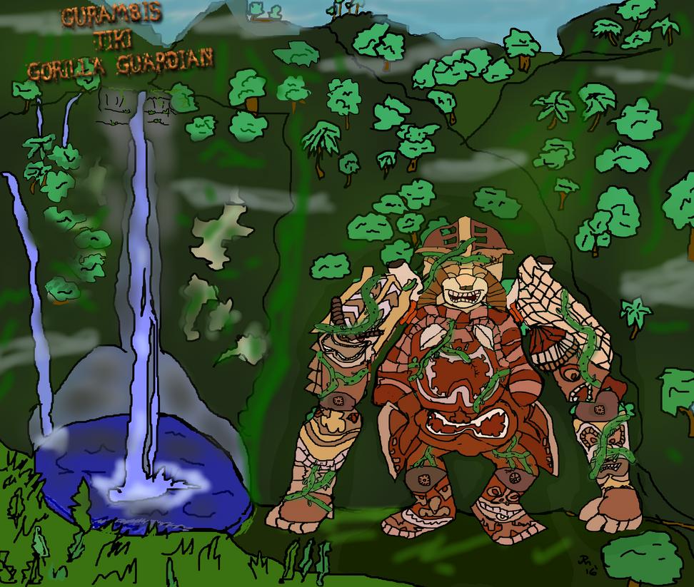 Gurambis the Tiki Ape Guardian! by Kyotita