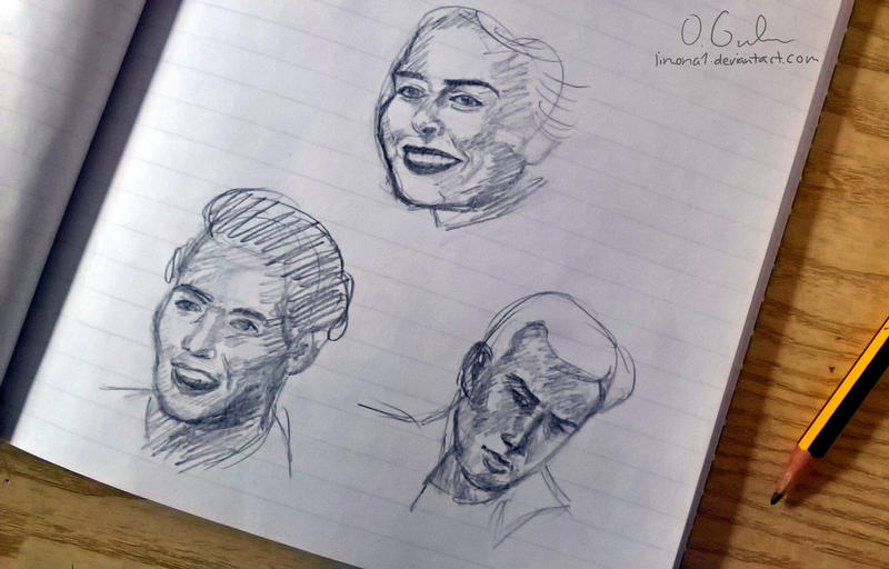5 minute sketches by limona1