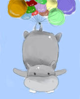 Flying Hippo by Dwylith