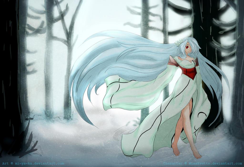 Snow woods by mi-ya-ka