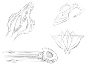 Space doodles and sketches