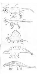 Dinosaurs!! WIP by urbantrixsta