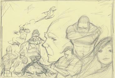 Cover Sketch Terrordome by urbantrixsta